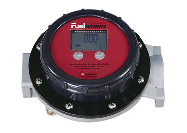 "Accurate 1"" Inlet And Outlet  Fuel Oil Flow Meters with LCD Display , Face Adjusted 360º"