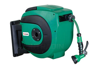 Auto Rewind Air And Water Spring Driven Hose Reel With 0.9 Meter Lead In Hose